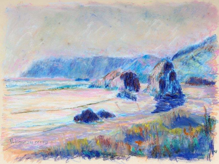 Late-20th-C. Beach Landscape