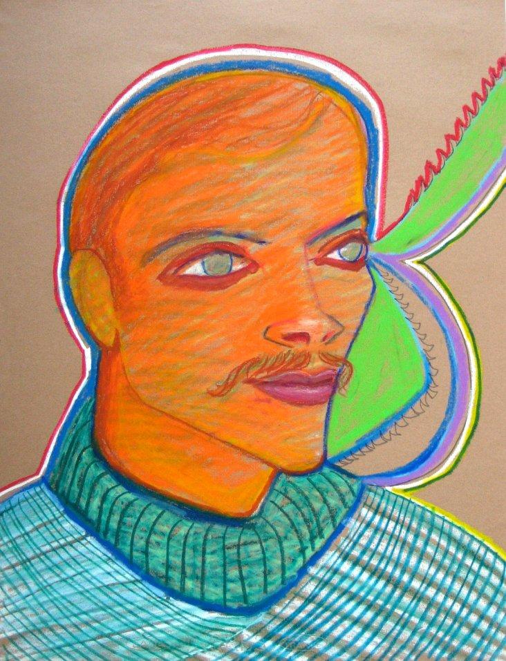 Midcentury Stylized Portrait