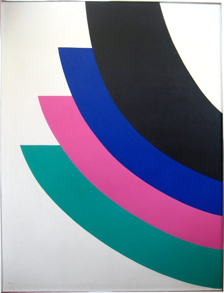 Curved Optical Abstract by Cassity, 1978