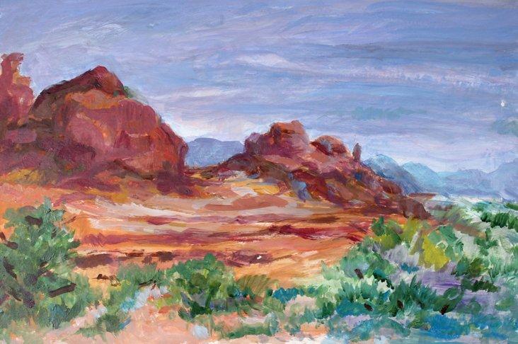 Desert Landscape in Bloom
