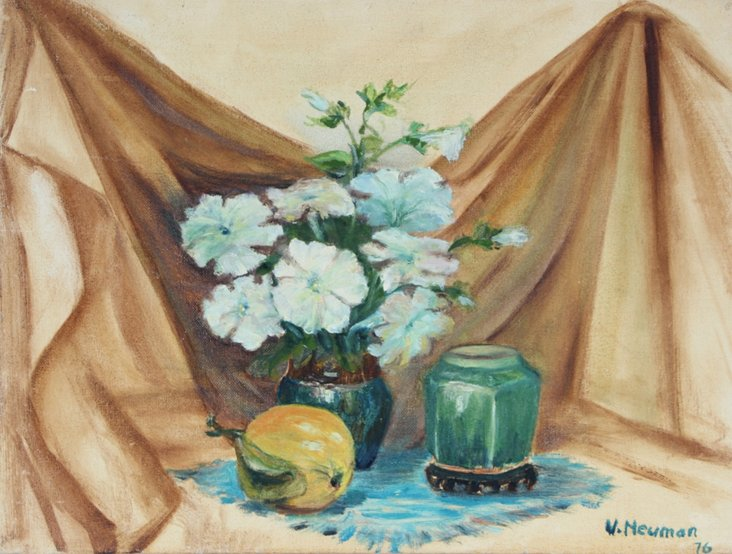Blue Flowers Still Life, Neuman, 1976