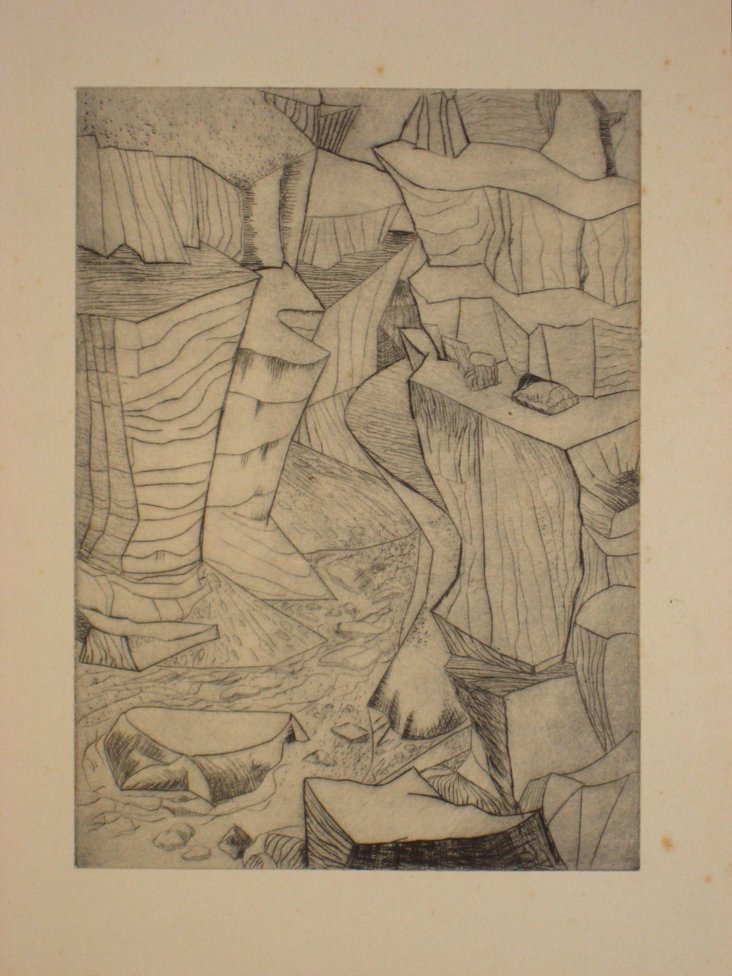 Abstract Landscape Etching