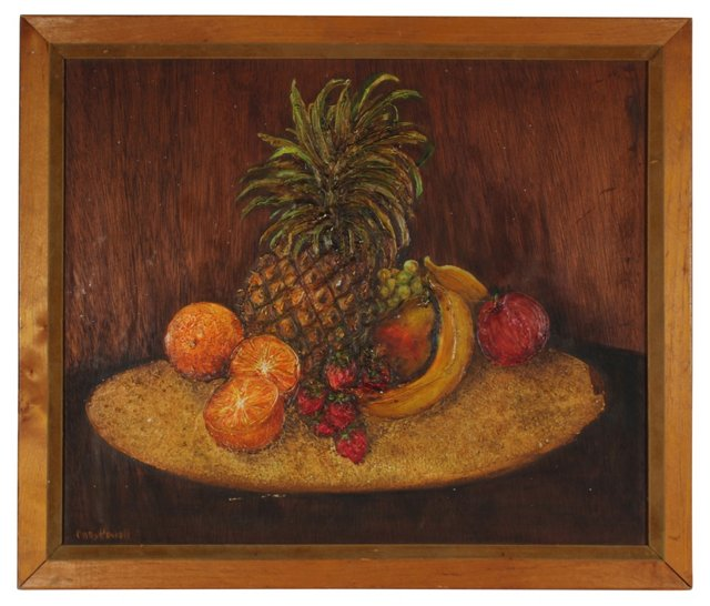 1950s Pineapple Still Life