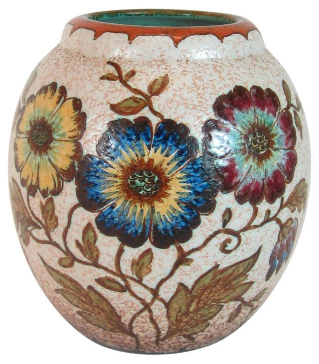 Gouda Pottery Floral Vase