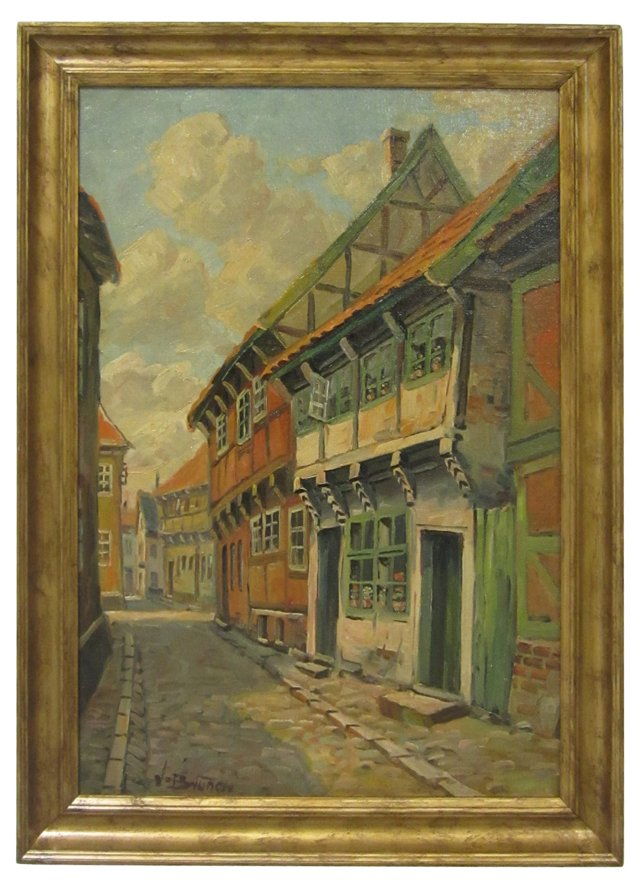 Old Cobblestone Side Street