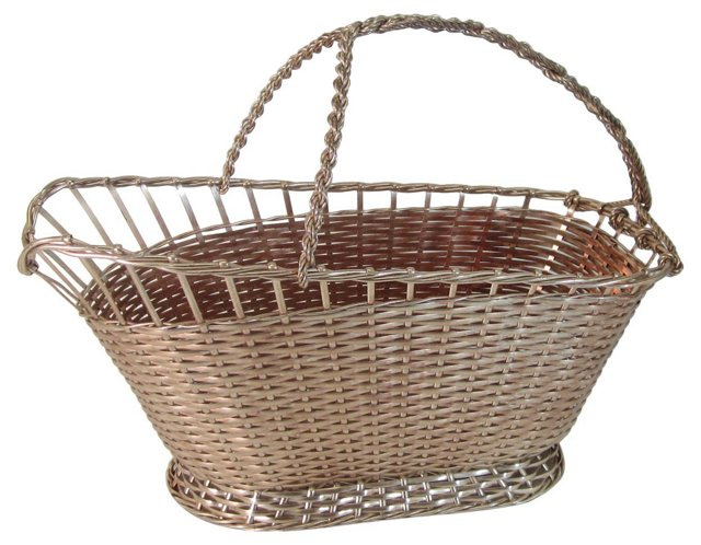 Silverplate French Wine Serving Basket