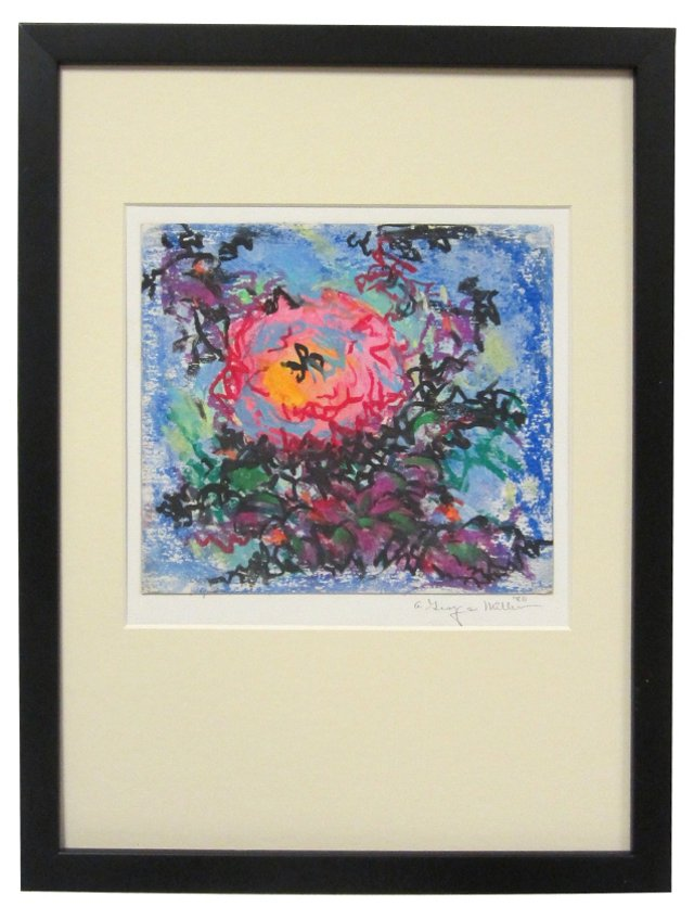 Floral Abstract by A. George Miller