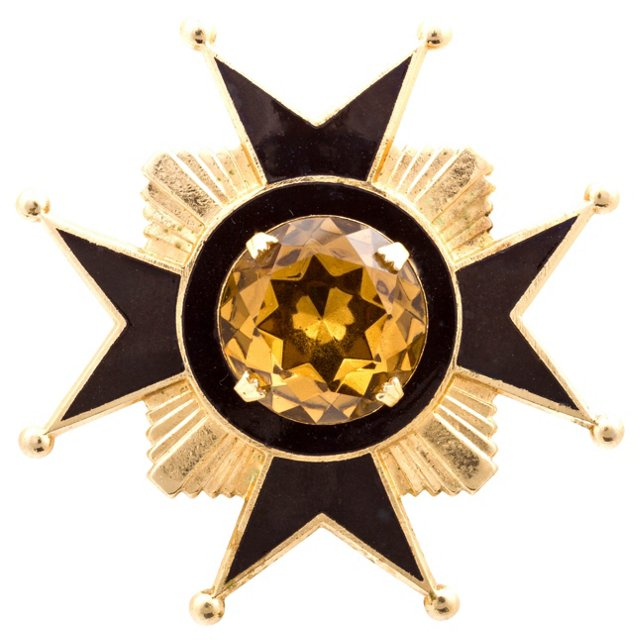 Accessocraft Black & Gold Maltese Cross
