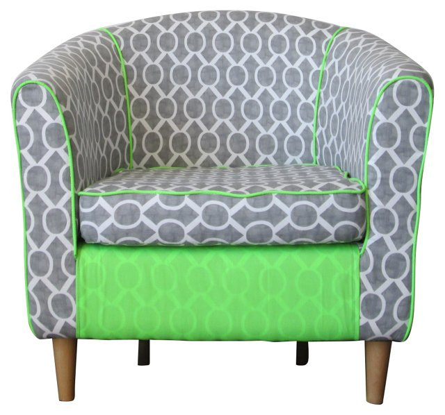 Upholstered Barrel Chair