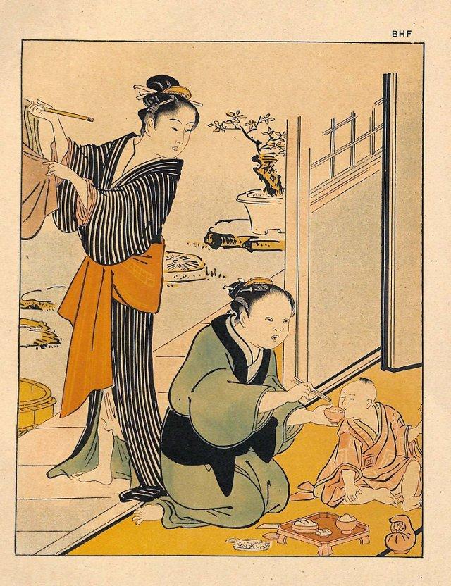 Family Scene after Kiyonaga