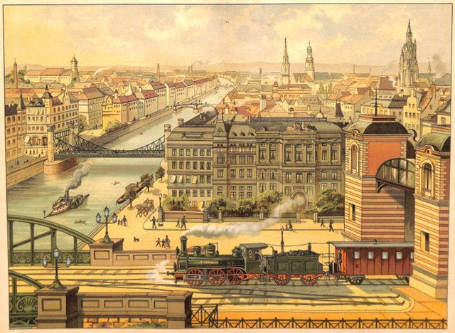 European City View, 1885