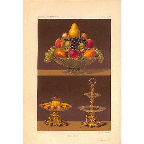 Fruit, Desserts, Cuisine, 1868