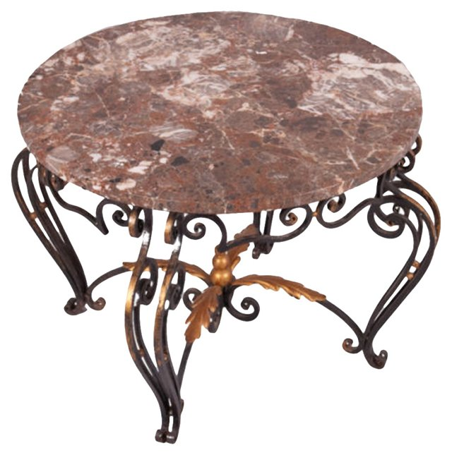 French Iron Coffee Table