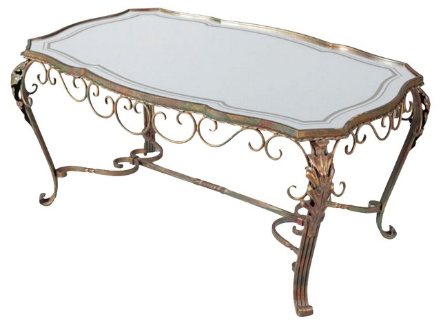 1950s French Iron Coffee  Table