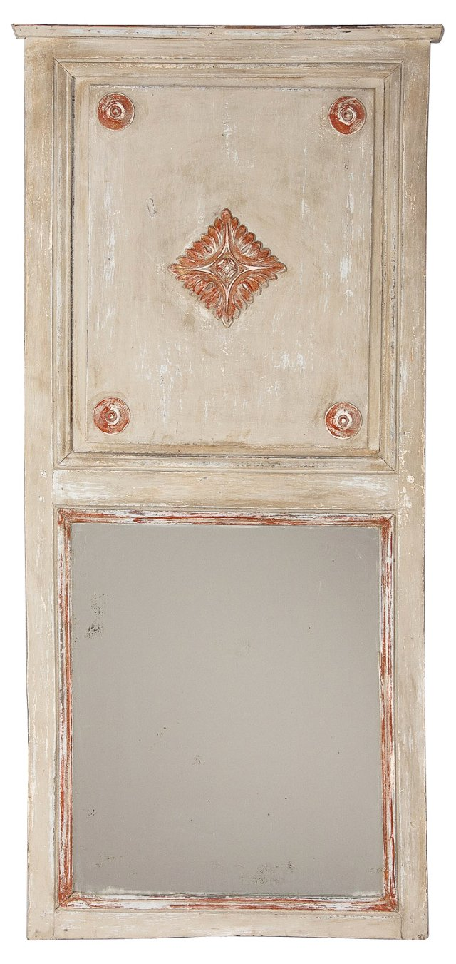 French Louis XIV-Style Trumeau Mirror