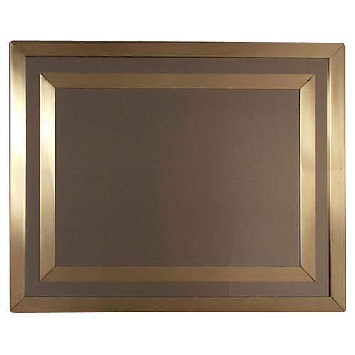 1970s French Brass Mirror