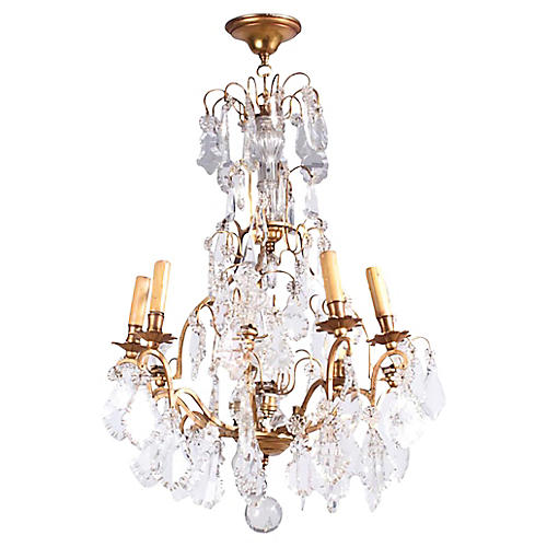 French Napoleon III Crystal Chandelier