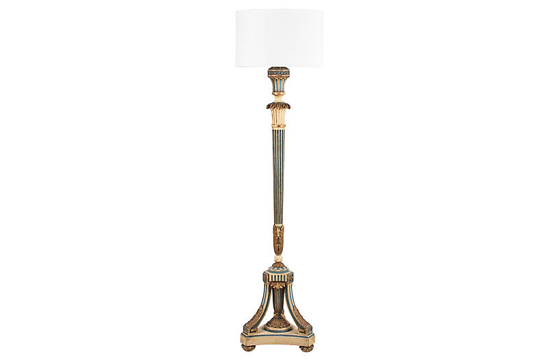 Louis XVI-Style Painted Floor Lamp
