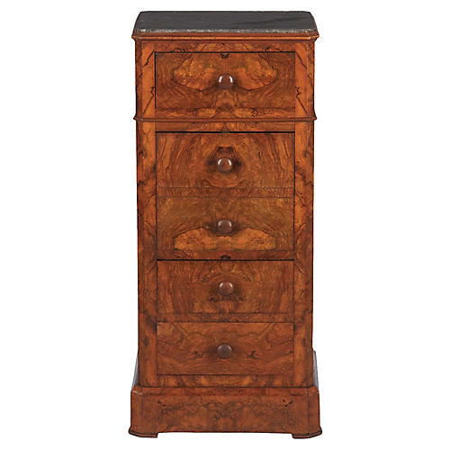 French Louis Philippe Walnut Cabinet