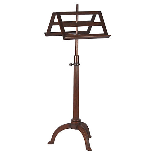 French Duet Music Stand in Walnut