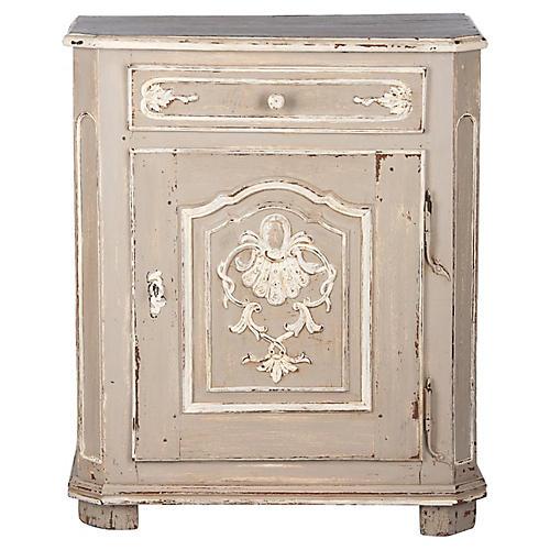 18th C. Louis XIV Painted Oak Cabinet
