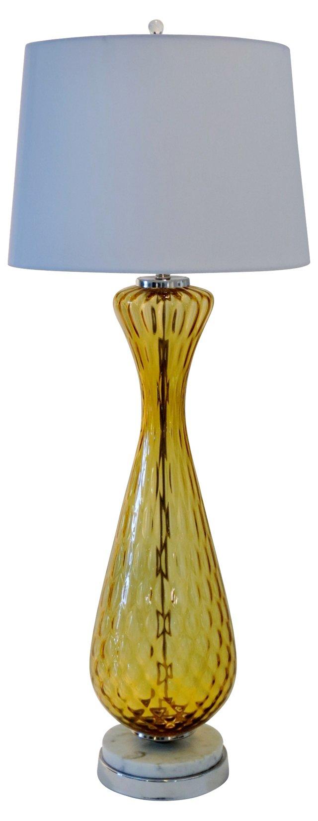 Gold Italian Murano Lamp