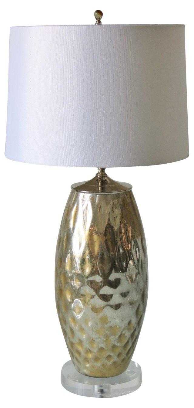 Mercury & Gold Patina Lamp