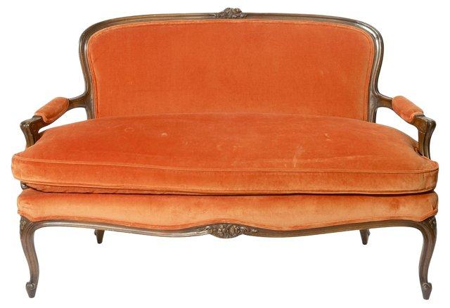Victorian-Style  Mahogany Settee
