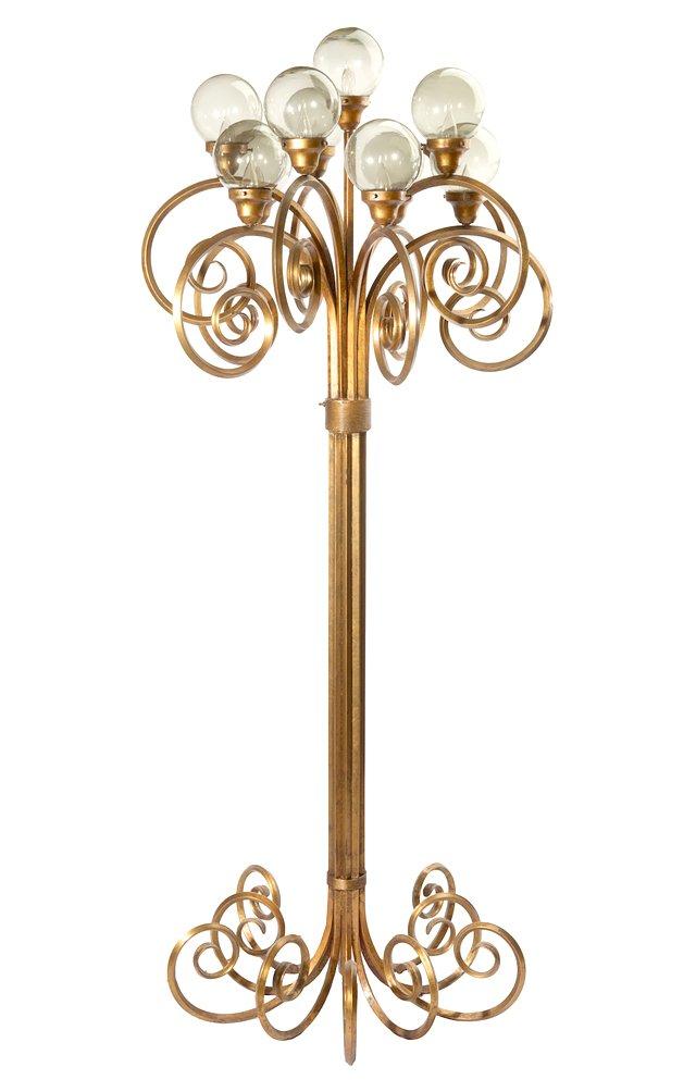 12-Light Gold Metal Floor Lamp