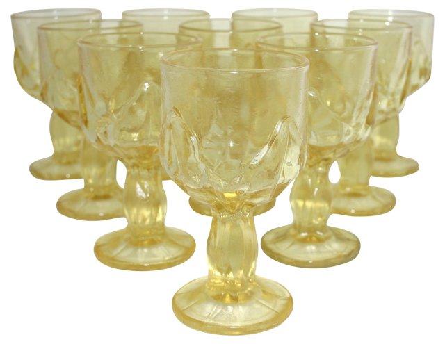 Franciscan Cabaret Water Goblets, S/10
