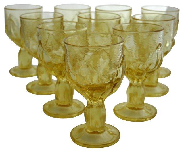 Franciscan Cabaret Wine Goblets, S/10
