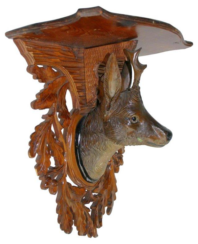 Black Forest-Style Deer Shelf