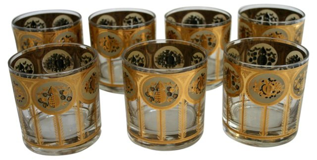 Gilded    Glasses, S/7