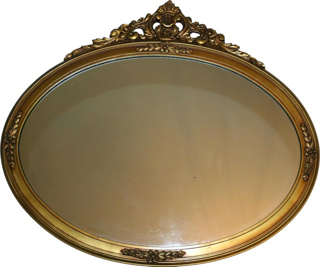 Oval Gilt Floral Wall Mirror