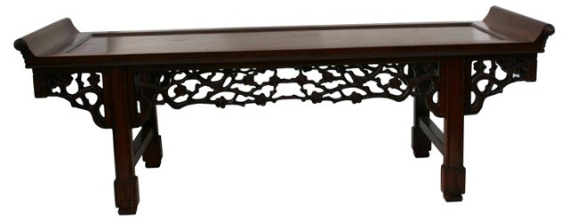 Chinese Carved Bench