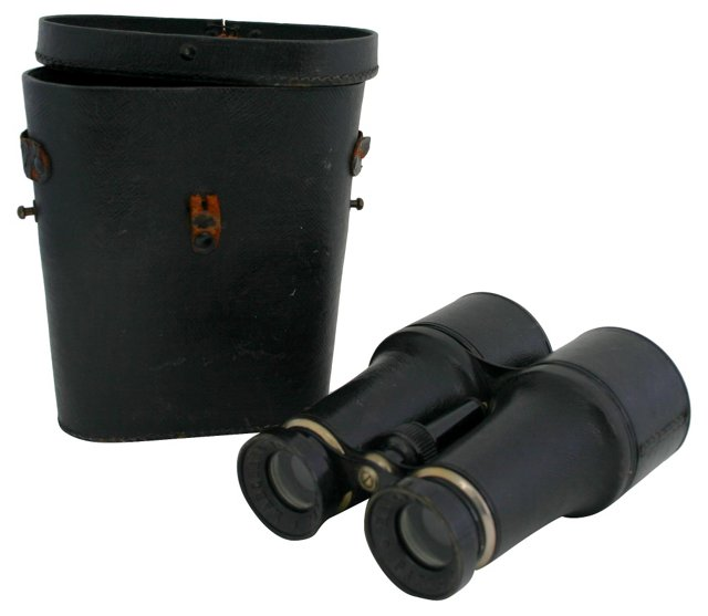 French Leather Field Glasses