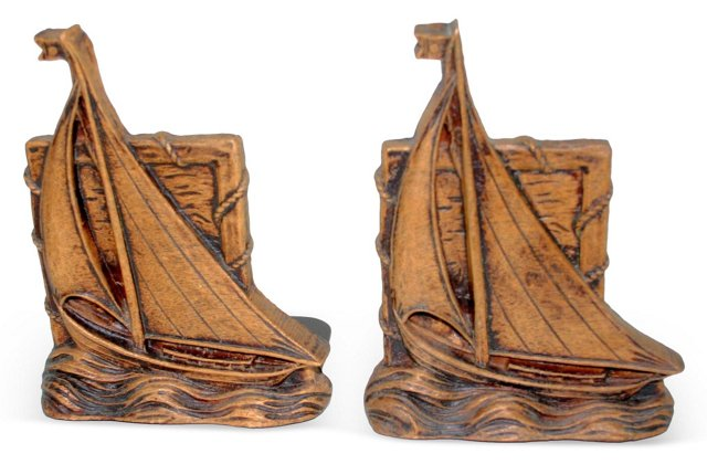 Syroco Sailboat Bookends