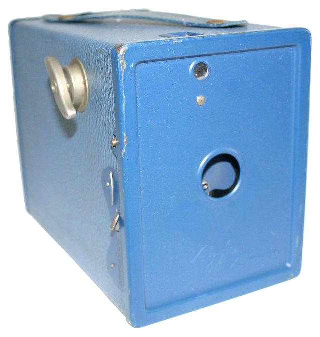 Blue Agfa Ansco Box Camera