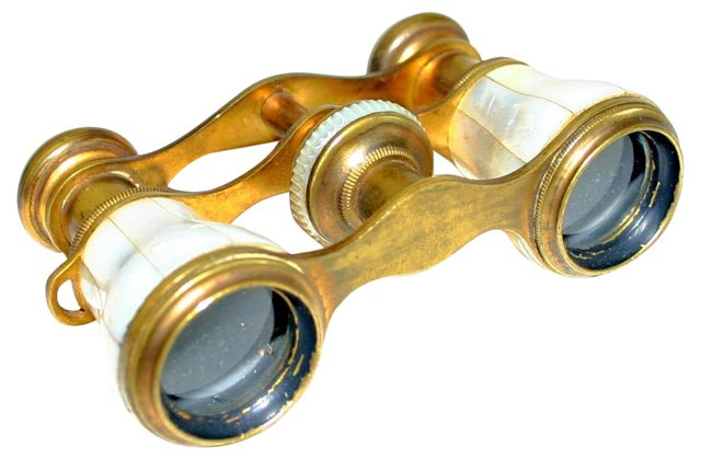 Brass & Mother-of-Pearl Opera Glasses