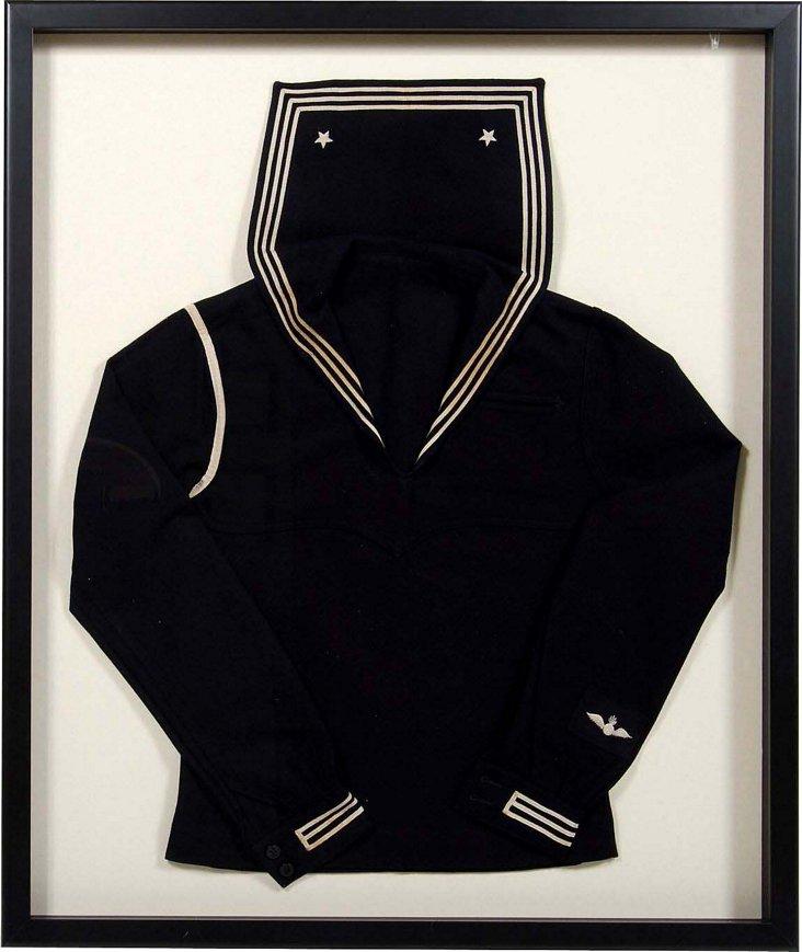 Framed Sailor's Wool Uniform