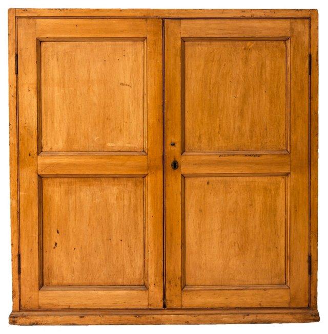 English Pine Mail Cabinet