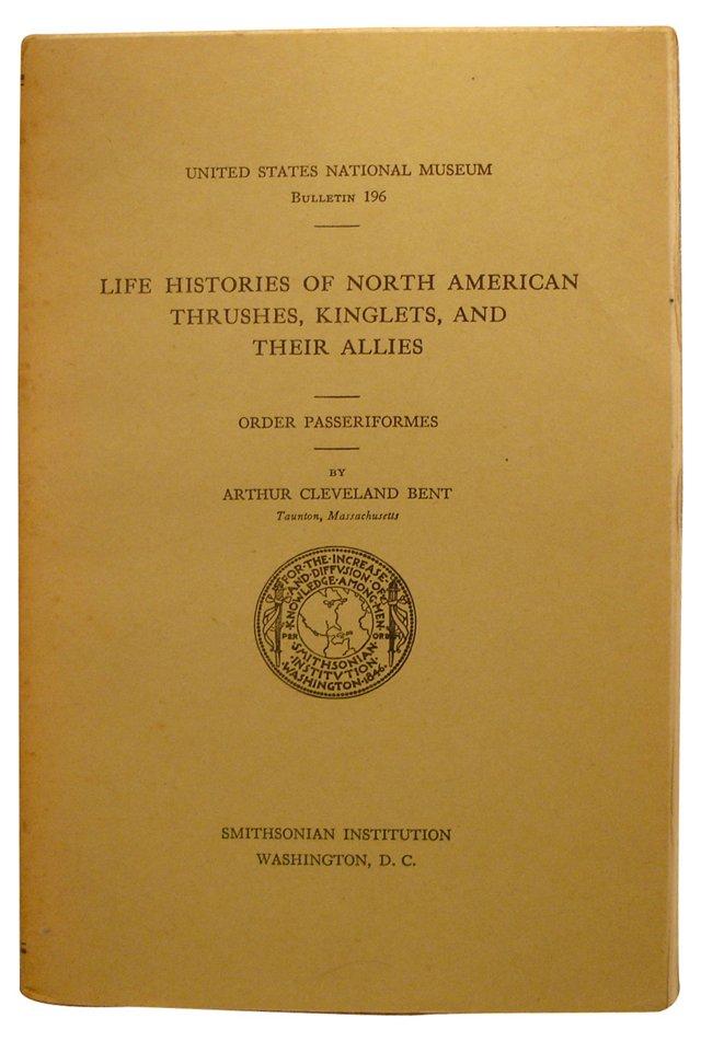 Life Histories of North American Birds