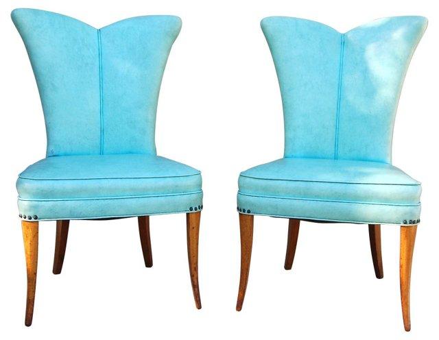 Flower Petal Chairs, Pair