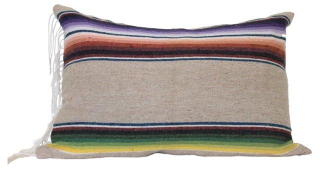 Sand Stripe Mexican Saltillo Pillow