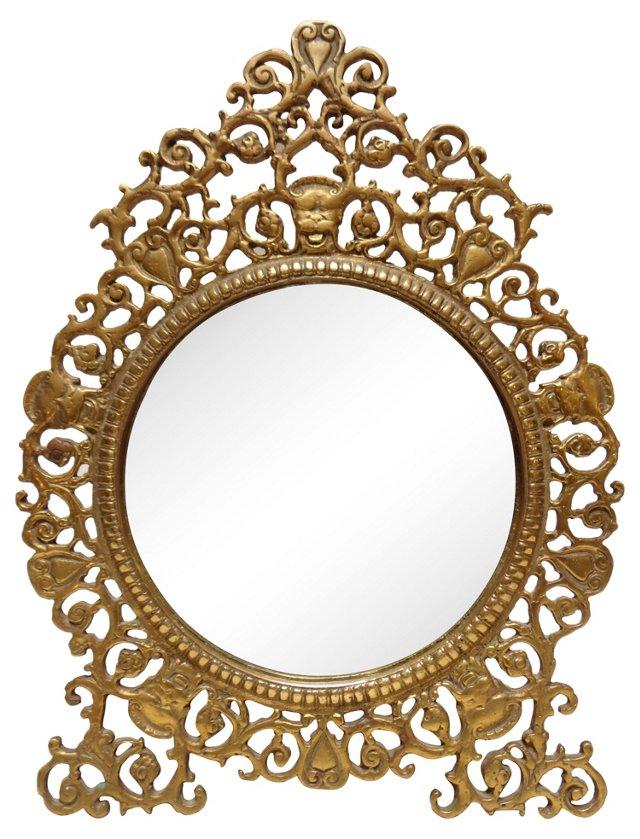 Oscar Bach-Style  Brass Mirror