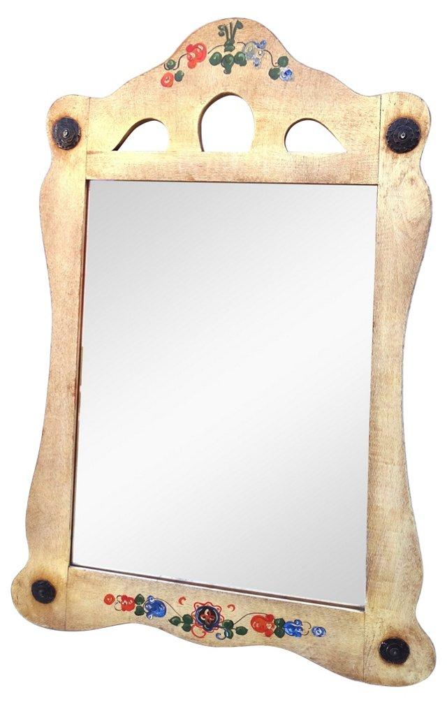 Monterey-Style Hand-Decorated Mirror