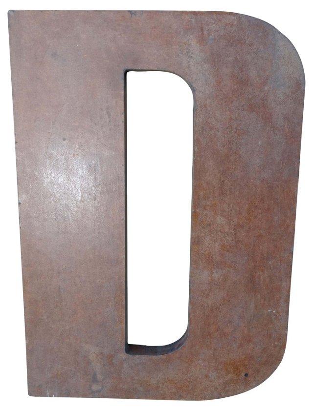 Wood Letter D