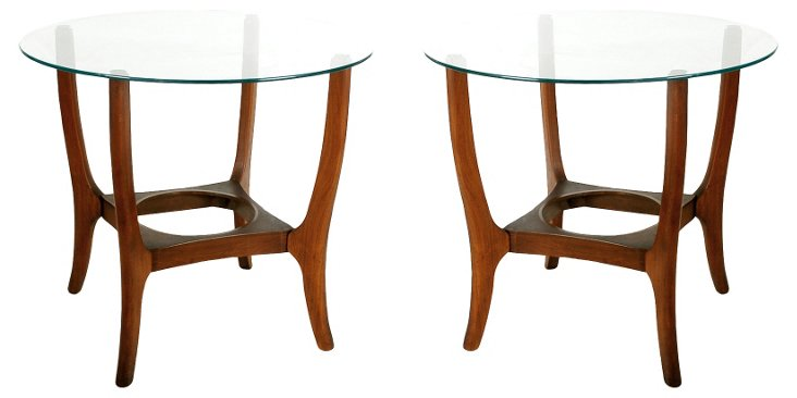 Sculptural  Side Tables, Pair