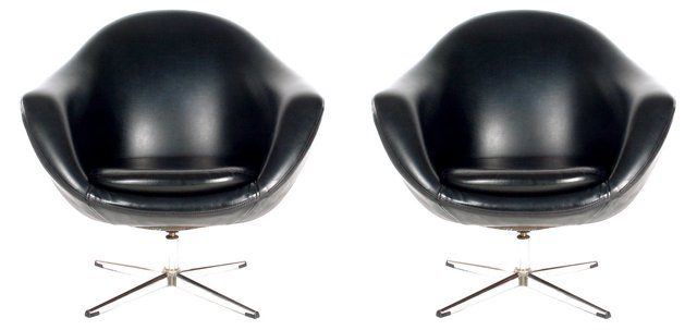 Overman Pod Chairs, Pair