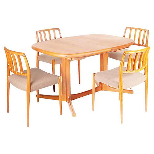 Dining Set by Niels Møller, 5 Pcs
